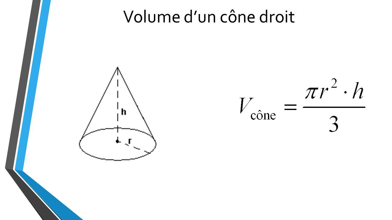 comment calculer le volume d 39 un cone de r volution. Black Bedroom Furniture Sets. Home Design Ideas
